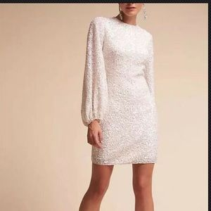 BHLDN Goldie Dress Sequin Mini Anthropologie